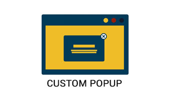We integrated custom popup plugin which allows merchants to create high converting popups with notification messages and subscriber forms. The popup gets live on the merchants's site instantly after installation of this popup plugin.